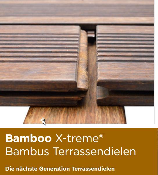 MOSO Terrassendielen Bambus geölt bamboo x-treme
